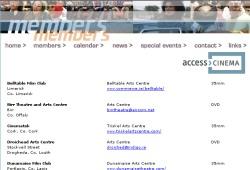 Ausschnitt der Internetseite accesscinema.ie