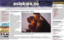 Ausschnitt der Internetseite oslokino.no