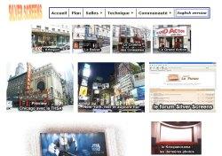 Ausschnitt der Internetseite silverscreen.com