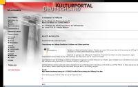 Ausschnitt der Internetsseite kulturportal-deutschland.de
