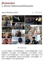 "Plakatmotiv ""Blickwinkel - 5. Dokumentarfilmwoche"""
