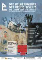 """Plakatmotiv """"100 Kinos erinnern Bruno Schulz  weltweit. Zum – 75. Jahrestag seiner Ermordung - """"BILDER FINDEN"""""""""""